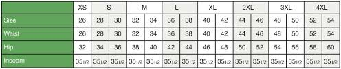 Mens Waist Measurement Chart Premium Uniforms Premium Uniforms Sizing Chart