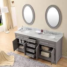 bathroom vanities double sink 60 inches. Image Of: Carenton 60 Inch Traditional Double Sink Bathroom Vanity Gray Finish Throughout Vanities Inches