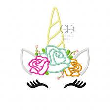 Unicorn Applique Design Unicorn Embroidery Design Unicorn Face