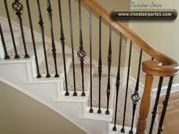 Pattern spindles - not all the same High quality powder coated iron stair  parts for Stylish Iron Stair Spindles