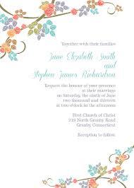 Diy Invitation Template Spring Floral Border Invitation Template Wedding
