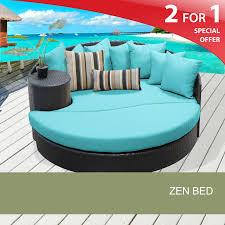 Zen garden furniture Interior Zen Circular Sun Bed Outdoor Wicker Patio Furniture Design Furnishings Flexzoneinfo Outdoor Patio Bed Zen Outdoor Furniture Design Furnishings
