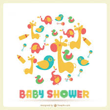Baby Shower Card With A Lot Of Toys Vector  Free DownloadBaby Shower Pictures Free
