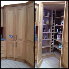 Walk In Corner Pantry Designs Walk In Corner Pantry With Wine Rack And Automatic Led