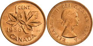 Coins And Canada 1 Cent 1956 Canadian Coins Price Guide