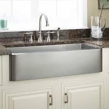 Kitchens With Farmhouse Sinks 36 Hazelton Stainless Steel Farmhouse Sink Kitchen