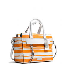 Lyst - Coach Bleecker Mini Riley Carryall in Embossed Woven Leather ...