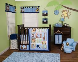 jungle 123 3pc crib bedding set