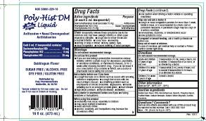 Dog Antihistamine Dosage Chart Poly Hist Dm Liquid Poly Pharmaceuticals Inc