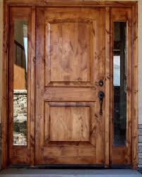 Exterior Door solid exterior door pics : TUSCANY DESIGN knotty alder Front Entry Solid Wood Door with (2 ...