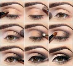now you will need to pick your favorite color and choose three shades of it from your eye shadow collection you should apply the darkest shade near your