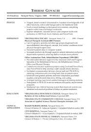 Examples Of Administrative Resumes Impressive Receptionist Resume Example