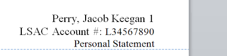Law School Personal Statement Header Format What Should Be In Yours