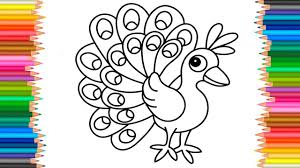 Peacock Coloring Book L Coloring Pages Funny Peacock Videos For