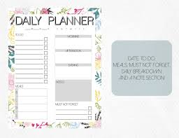 Daily Journal Planner Daily Planner Printable Journal Schedule By Ever Mocks