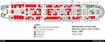 Seat Map Lockheed L 1011 Tristar 1 N726da Aviation Safety