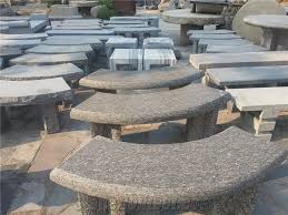 polished stone garden bench grey granite outdoor bench for decoration curved stone bench
