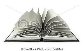 drawn 3d book big open book