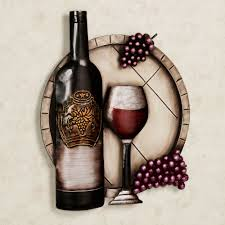 cellar reds wine and g metal wall art