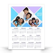 Photo Calander One Page Yearly Customized Wall Photo Calendars 12 X 15