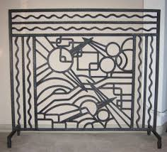Image Furniture Iron Art Deco Fireplace Screen Art Deco Collection Iron Art Deco Fireplace Screen Sold Items Ironwork Art Deco