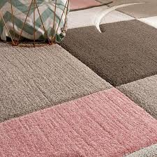 modern grey pink rug pastel pale soft checd bedroom carpet small extra large 2