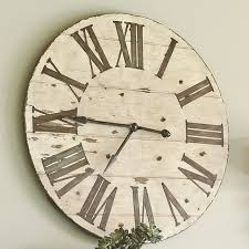 unique large rustic wall clock about my blog