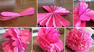 Make Tissue Paper Flower Balls How To Make A Paper Flower Ball Flowers Healthy