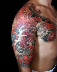 50 Japonských Chobotnice Tetování Vzory Pro Muže Tentacle Ink Myšlenky