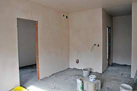 interior walls with cement plaster