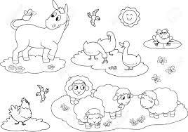 Set De Coloration Animaux De La Ferme Pour Les Enfants Ne Moutons