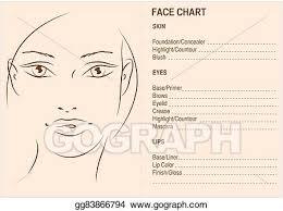 Blank Face Chart Stock Illustration Face Chart Makeup Artis Blank Face