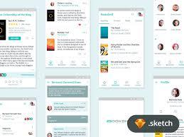 Bookshelf Android App - Sketch freebie by Rico Monteiro | Dribbble ...