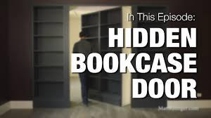 Hidden Bookcase Door - YouTube