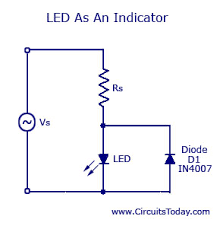 light emitting diode led working circuit symbol characteristics led as an indicator