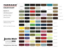 Tarrago Dye Color Chart Tarrago Color Chart Justin Blair Company