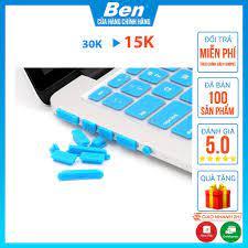 Nút Chống Bụi Laptop Set 13 Nút Silicon Cho Ổ Cắm Laptop - Màu Ngẫu Nhiên -  Miếng Dán Bàn Phím