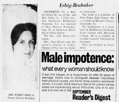 Marilyn Brubaker Erbig wedding annoucement - Newspapers.com