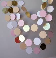 bridal shower decor bridal shower decorations gold pink white and beige paper garland baby shower decorations wedding paper garland