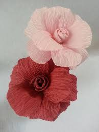 How To Make Flower Using Crepe Paper Learn How To Make This Easy Rose Flower Using Crepe Paper Streamers