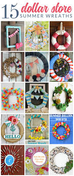 beautiful dollar summer wreaths these gorgeous diy wreaths were all made from supplies that
