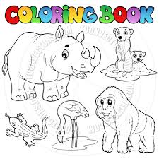 coloring book zoo s cartoon coloring book zoo s by clairev eps on coloring pages of