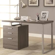 modern design home office weathered grey writing computer desk with drawers and file cabinet free today com 19067790