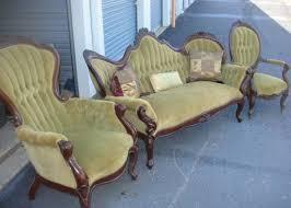 Vintage couch for sale Refinished Antique Antique Victorian Parlor Set Couch And Chairs Vintage Couch For Sale Bijute Vintage Couch For Sale Bijuteri Catalog