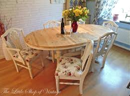 Dining Room Shabby Chic Dining Room Unique Table Round Wood Table
