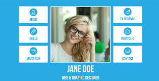 resume web templates 20 high quality muse website templates