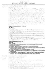 Nice Business Continuity Resume Example Images Resume Ideas
