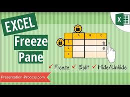 excel freeze panes freeze split