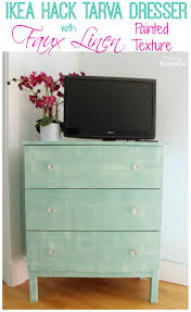 ikea hack tarva dresser. Ikea Hack Tarva Dresser With Faux Linen Painted Texture At The Happy Housie D