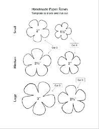 Paper Flower Templates Vijayprasanna